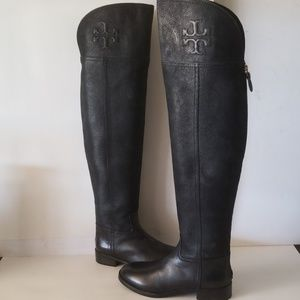 Tory Burch Simone Over The Knee Embossed Boot